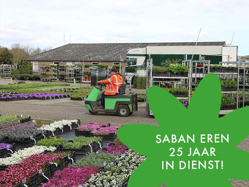 Saban Eren 25 jaar in dienst!